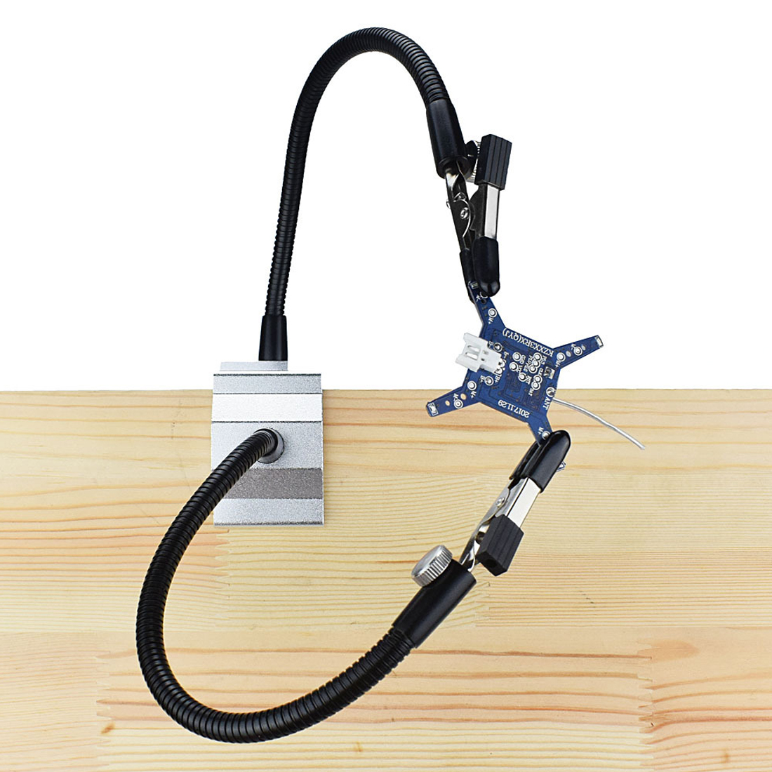 Two-jaw Welding Tool  Soldering Iron Holder Table Clamp Soldering Station ForPCB Board RC Helicopter Repair With 2 Flexible Arms