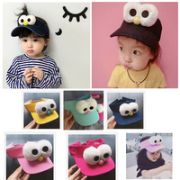 Summer Cute Big Eyes Empty Top Hat Children S Boys Girls Visor Sun Hat Ball Caps