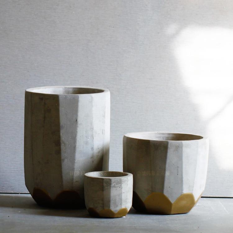 Round Concrete Planter Mold Succulent Plants Pots Silicone Mold Home