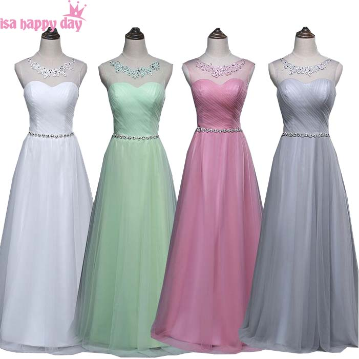mint green modest blush girls   bridesmaids     dress   for   bridesmaid   tulle beaded   dresses   ball gowns weddings & events B3482