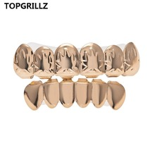 TOPGORILLZ HIP Hop Maple Leaf Teeth Grillz Pot Weed Leaves Gold Color Plated Top & Bottom Gold Teeth Grills Sets Teeth Caps.Gift