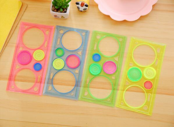 Painting Multi-function Puzzle Spirograph Geometric Ruler Drafting Tools For Students Drawing Toys Children Learning Art Tool 5
