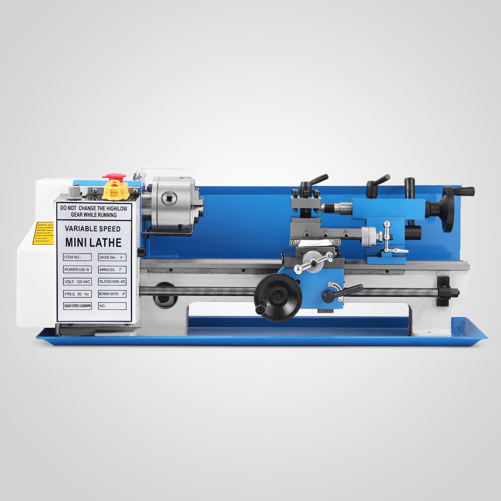 US $448 56 11% OFF New Mini Lathe high Precision Benchtop Metal Lathe Tool  Machine Variable Speed Milling Digital Display-in Lathe from Tools on