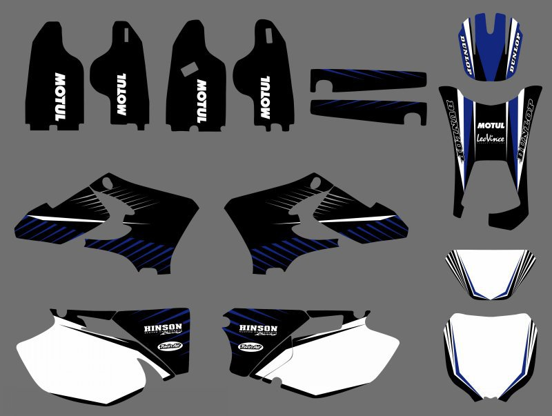 0496 NEW TEAM GRAPHICS BACKGROUNDS DECALS For Yamaha WR250F WR450F WRF 250 450 2005 2006 WR 250F 450F WR250 WR450 F