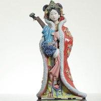 Коллекционная Китайский Shiwan керамика Статуэтка женщины Диао Чан Xi Shi Gui Fei азиатских красот античные статуи расписанную произведение искусс