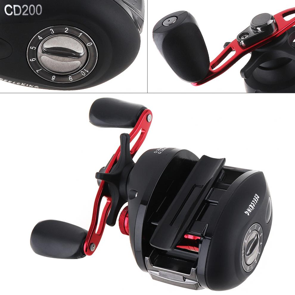 Right Hand Baitcasting Reel 12+1BB 7.3:1 Bait Casting Fishing Reel Magnetic and Centrifugal Dual Brake