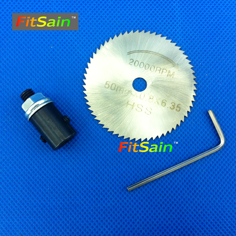 цена на FitSain--Used for motor shaft 4mm/5mm/6mm/8mm Saw Blades Wood Cutters 50mm circular saw blade cutting disc Adapter coupling bar