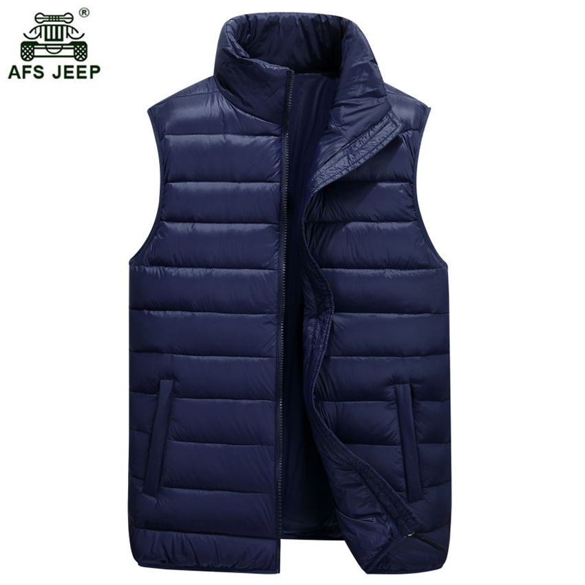 Mens Down Vests Winter Jackets Waistcoat Men Fashion Sleeveless Solid Zipper Coat Overcoat Warm Down Vests Size S-3XL xia75wy