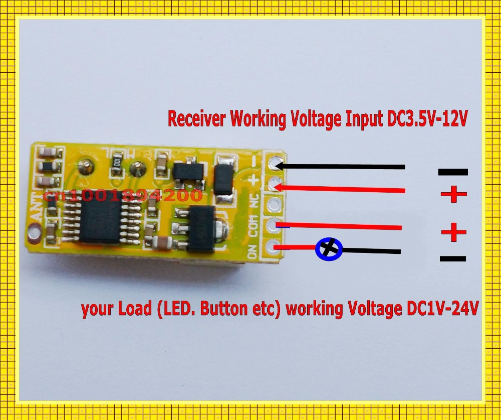 Dc35v Dc12v Mini Relay Receiver Dc3v Transmitter Pcb Power On Spdt Micro 5v Transmitting 37v 45v 6v 74v 9v 12v Wireless Tx Rx Mod In Switches From Lights