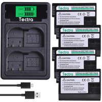 4 Uds EN-EL15 es EL15 EL15 batería + cargador USB con LCD tipo C puerto para Nikon D600 D610 D800 D800E D810 D7000 D7100 D7200