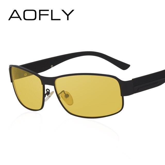 AOFLY Night Vision Glasses Brand Design Polarized Sunglasses Women Men Driving Anti-Glare Goggles AF8045