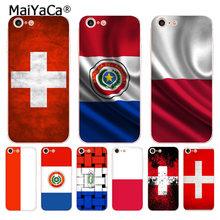 MaiYaCa For iphone 7 6 X Case National flag Poland Switzerland Paraguay Phone Case for iPhone 8 7 6 6S Plus X 10 5 5S XS XR(China)