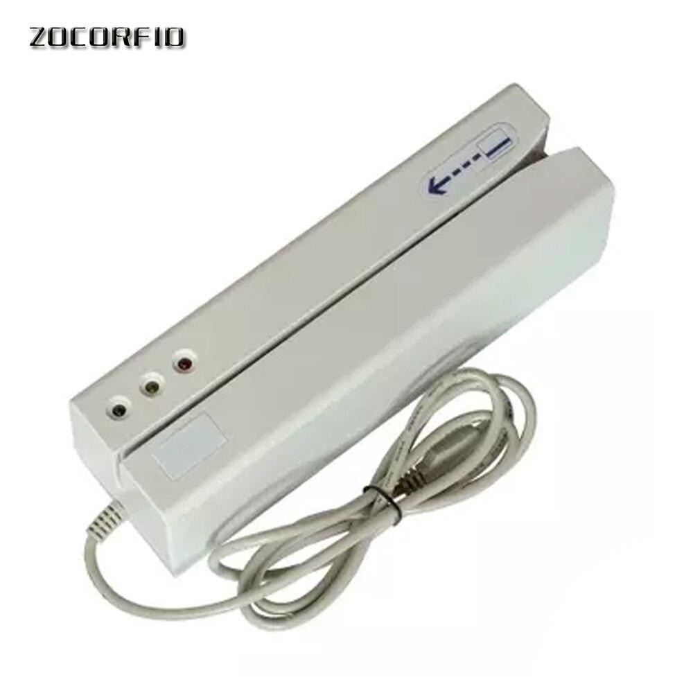 Salut-co 2750oE Carte Magnétique Lecteur de carte À Piste Magnétique Writer Encoder Glisser USB Interface