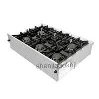 Нержавеющая сталь кухонный прибор газовая горелка плита 120 В 60 Гц 1 шт. Бытовая газовая плита 36 дюймов Встроенная газовая плита