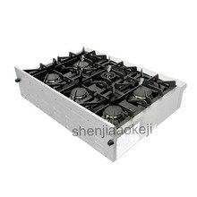 Utensilio de cocina de acero inoxidable quemador de gas estufa 120 V 60Hz 1 PC Gas estufa 36 pulgadas integrado de gas estufa de cocina
