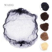 Tutta la vendita 500 pezzi Hairnet 5MM reti per capelli in Nylon invisibile monouso 20 pollici cinque colori Mix nero, marrone corteccia, marrone, biondo