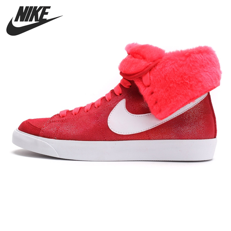 Original New Arrival 2017 NIKE WMNS BLAZER HIGH ROLL SUEDE Women's Skateboarding Shoes Sneakers original nike wmns blazer high roll suede women s skateboarding shoes 585561 002 sneakers free shipping