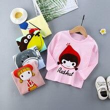YHCQ Summer T Shirt For Girls Boys Cotton Long Cute Cartoon Sleeve Kids Childrens Tshirt Toddlers Clothes Tops Tees
