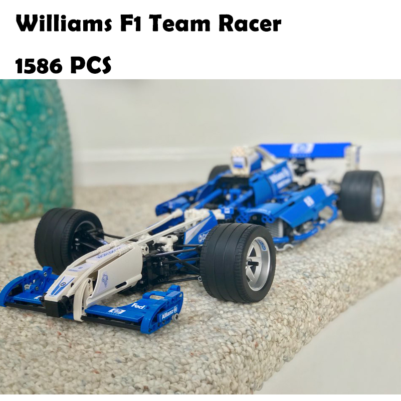 Model Building Blocks toys 20022 1586Pcs Williams F1 Team Racer compatible with lego Technic Series 8461 DIY toys & hobbies цена