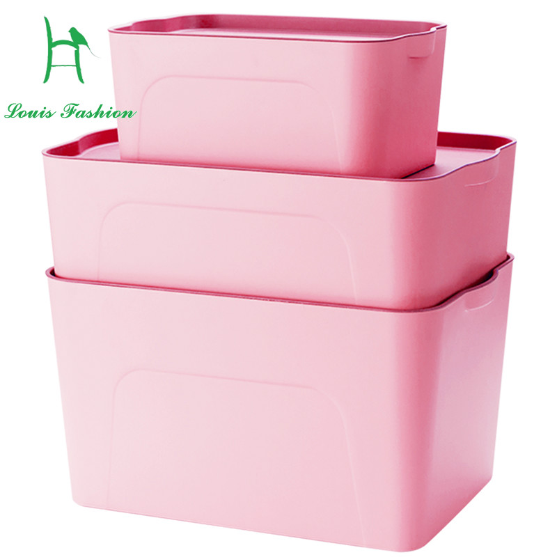 Large Thick Plastic Clothes Storage Box Installed Books Wardrobe Box  Satchel Toys Storage Box(China