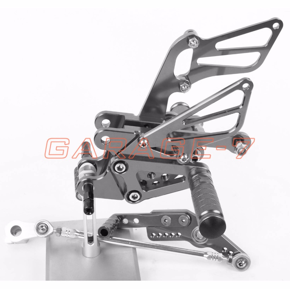 CNC Rearsets Foot Rests Rear Set Titanium color For HONDA CBR1000RR 2008-2013 2009 2011 2012 2010 Motorcycle Foot Pegs