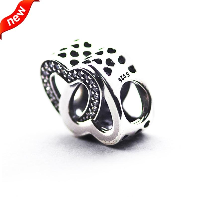 Für Pandora Charms Armbänder Entwined Love Charms mit klaren - Edlen Schmuck - Foto 4