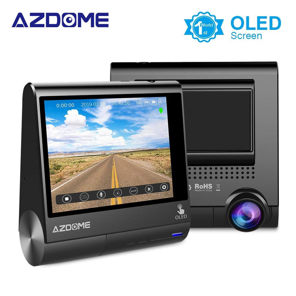 AZDOME M05 3 OLED Touch Screen Car DVRs Recorder Dash Cam With GPS Vehicle Rear View Camera Camcorder Night Vision DashcamAZDOME M05 3 OLED Touch Screen Car DVRs Recorder Dash Cam With GPS Vehicle Rear View Camera Camcorder Night Vision Dashcam