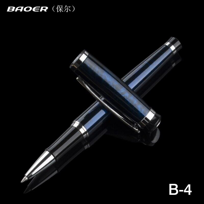 Ручка-роллер Baoer 508 Magic Blue, полированная, для старшего офиса, среднего размера, Новинка