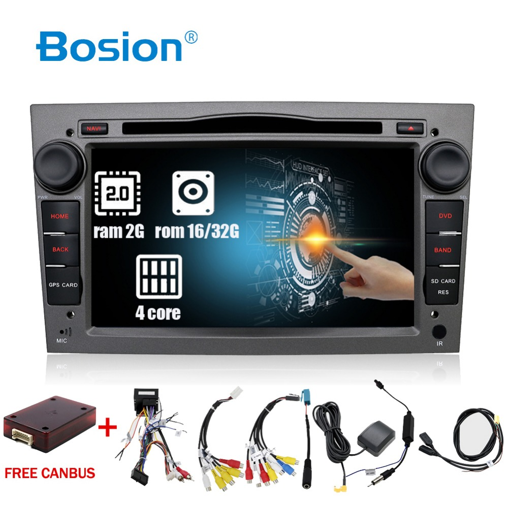 Android 7.1 2Din Auto DVD AUTORADIO di NAVIGAZIONE WIFI 3g DAB + OBD2 Per Vauxhall Opel Astra H G Vectra antara Zafira corsa Multimedia