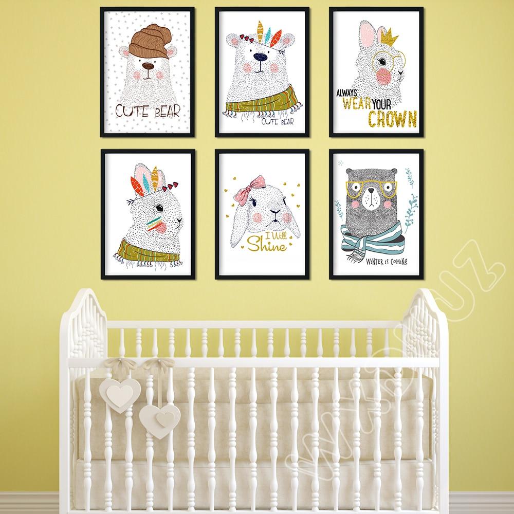 WXDUUZ Clouds Stars Living Room Decor Home Poster Wall Art Nursery ...