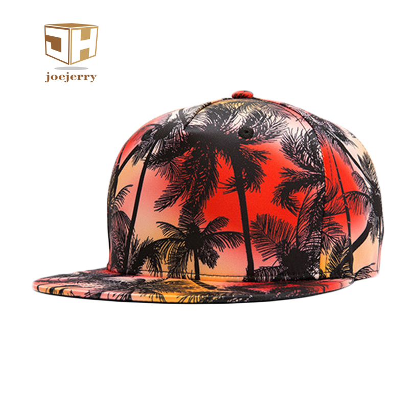 JOEJERRY Baseball Cap Floral Snapback Hip Hop Cap Women Men 3D Printed Graffiti Baseball Cap
