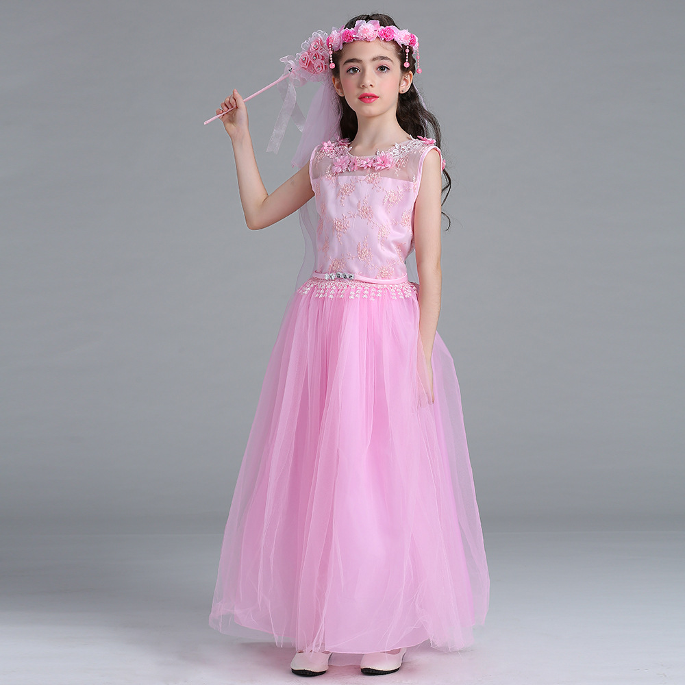 New Hollow Toddler Clothes Girls Dresses for Wedding and Party 2017 Robe Fille Teenager Kids and Children Princess MAXI Costume hot summer flower girls dress for wedding and party infant princess girl dresses toddler costume baby kids clothes robe fille z2