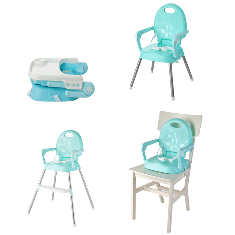 Multifunctional Foldable Non-slip Dining Chair Portable Kids High Chair Plastic Safety Baby Chair