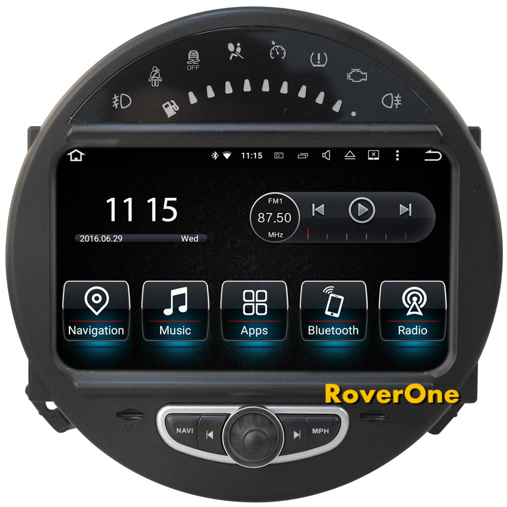 roverone android 7 1 car multimedia player for mini cooper. Black Bedroom Furniture Sets. Home Design Ideas