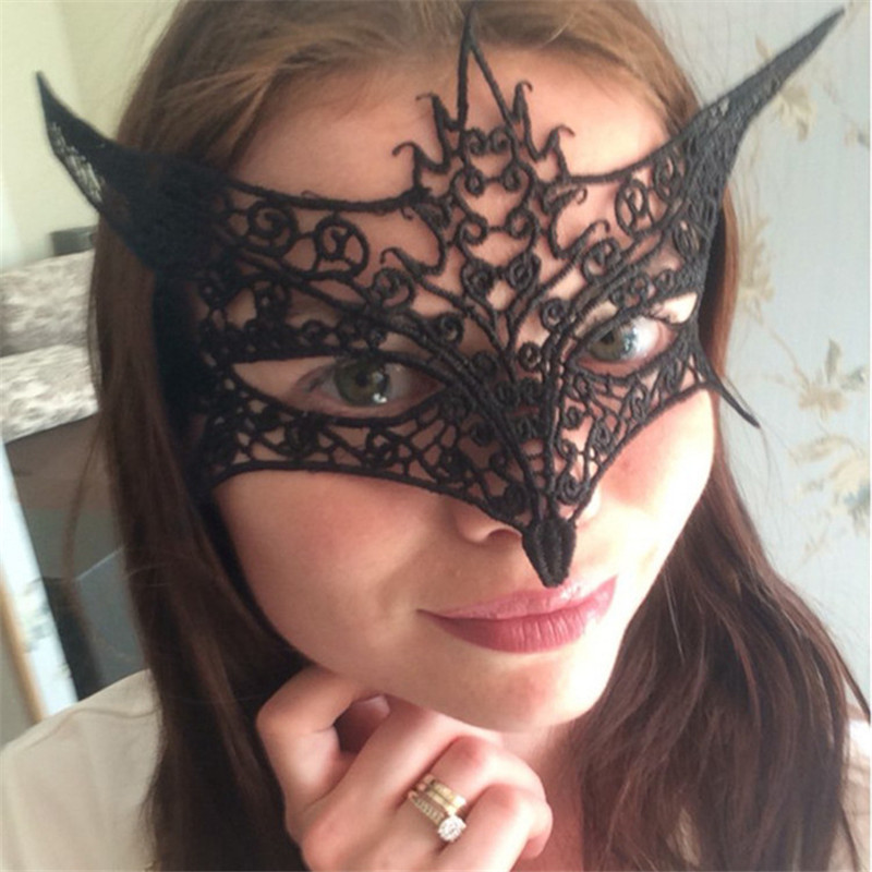 SM products Black Mask Sex Toys for Woman for Party Fox Cutout Lace Mask Halloween Masquerade Sexy Lady Adult Games Sex Products