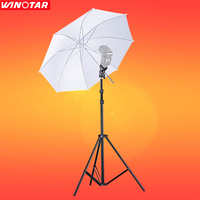 3in1 43 Translucent Soft Umbrella + Photography Kit 65 200cm Studio Lighting Tripod Light Stand + Swivel Flash Bracket Holder