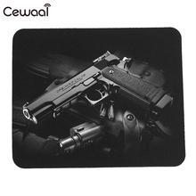 3d Нескользящая Реалистичная коврик для мыши пистолет резиновый коврик для мыши домашний Прочный Водонепроницаемый модный офисный портативный