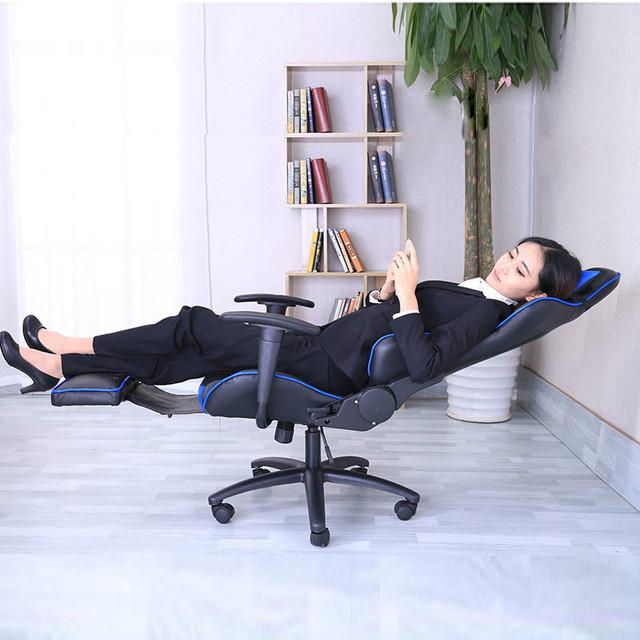 Cadeira ergonómica do escritório em casa cadeira do computador de jogos de corrida (liga De Alumínio do pé) 3 cores opcionais