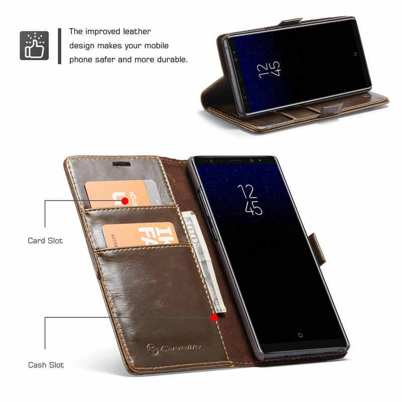Фото Ретро флип чехол для samsung Galaxy Note 8 Примечание 5 4 из искусственной кожи кошелек