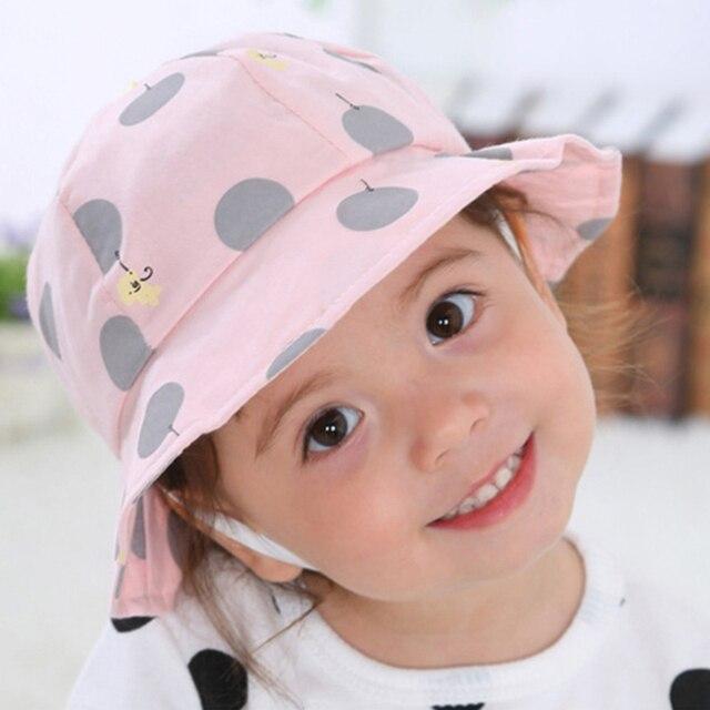 2018 Hot Sale Toddler Kids Sun Cap Polka Dot Baby Bucket Hat Summer Outdoor  Baby Girl Boy Cap Sun Beach Hats Good Gift 5fc693e83f0