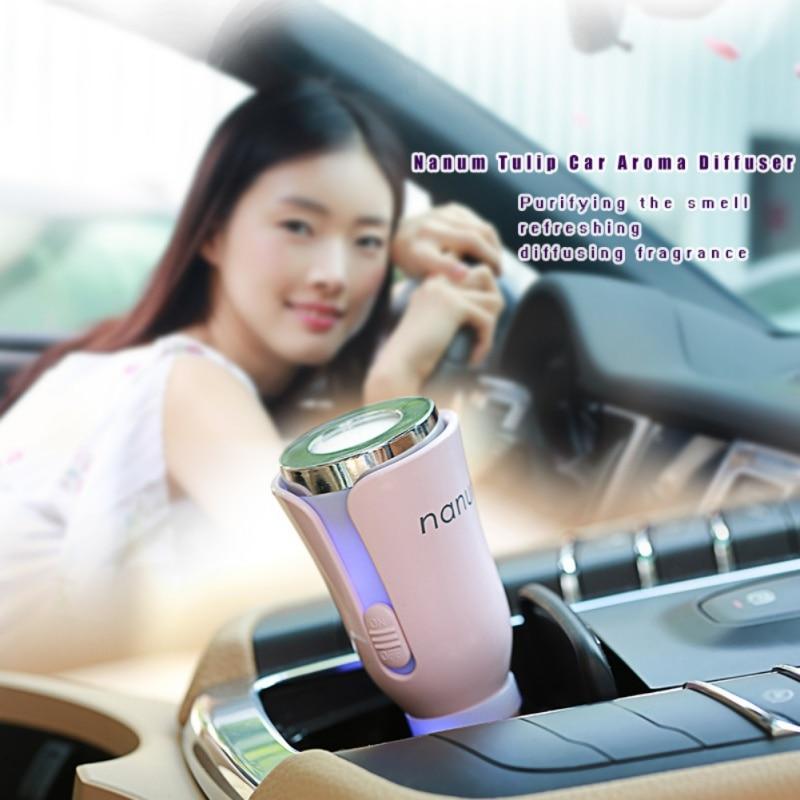 NANUM Car Air Freshener Purifier Ultrasonic Aromatherapy Portable USB Car Aroma Diffuser Office Family