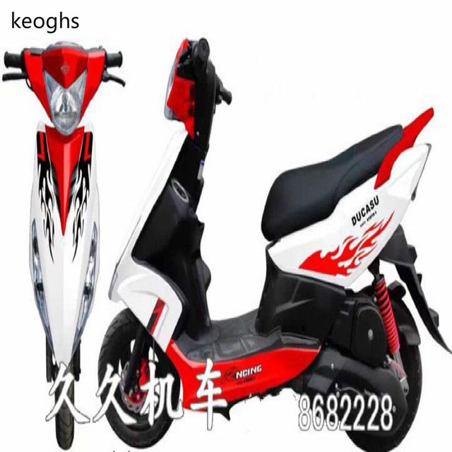 Flame pattern pvc waterproof 3color stickers moto motorcycle sticker scooter sticker whole body cool decoration with