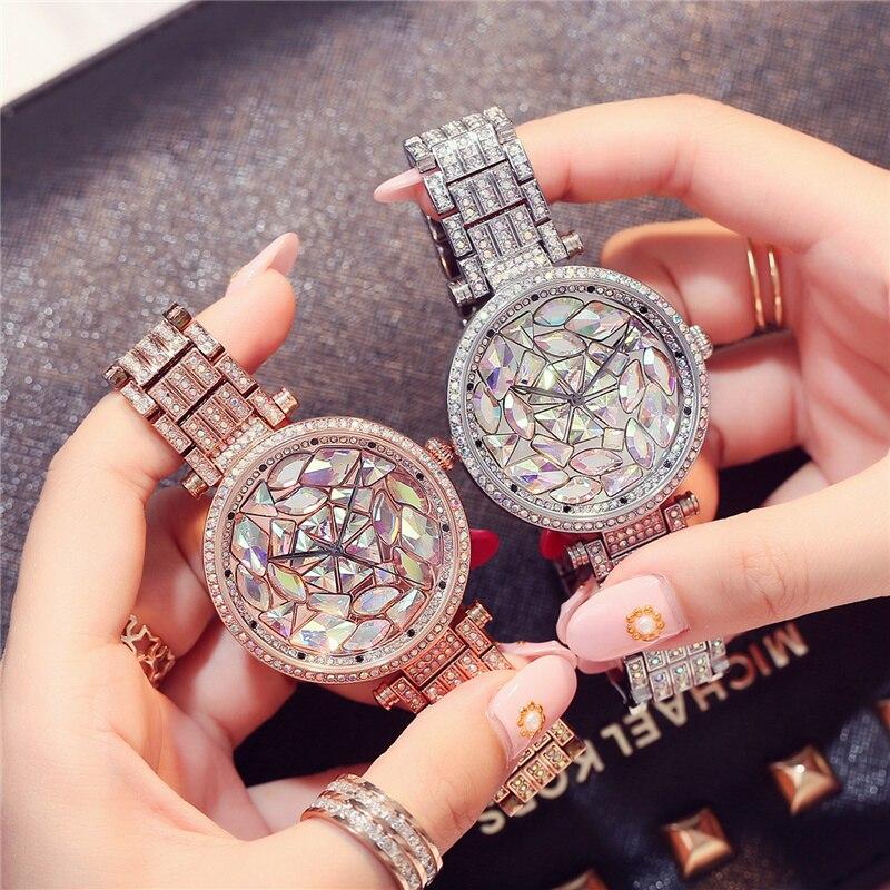 Top Luxury Brand Women Watches Fashion Full Crystal Diamond Bling Quartz Ladies Wristwatch Mujer Relojes Casual relogio feminino baosaili brand luxury crystal gold watches women ladies quartz wristwatches bracelet relogio feminino relojes mujer bs001