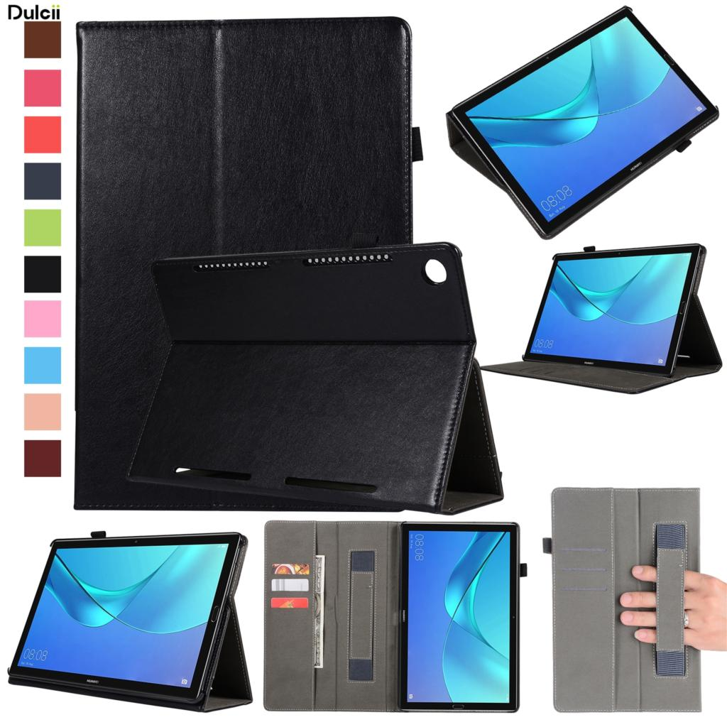 DULCII Cases for Huawei MediaPad M5 10 Wallet Stand Leather Case with Elastic Band for Huawei MediaPad M5 10 (Pro) Case 10.8