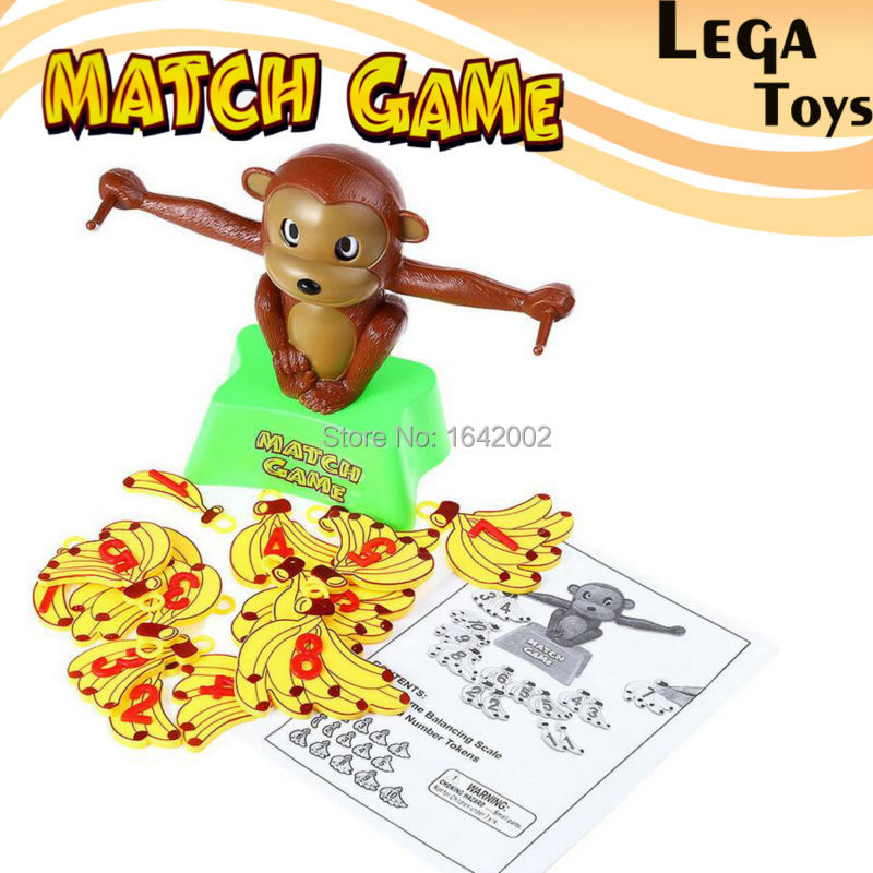 Match game Board game Monkey Match Math Balancing Scale Number Balance Game Children Educational Toy to Learn add and subtract