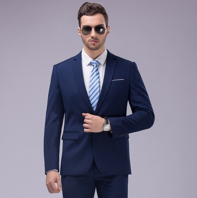 Online Buy Wholesale navy blue and black suits from China navy ...