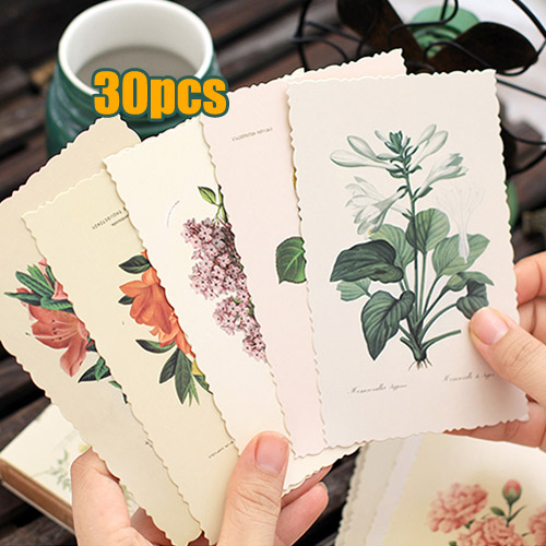 Hand drawn retro flower plants post card 30pcsset greeting hand drawn retro flower plants post card 30pcsset greeting postcards m4hsunfo