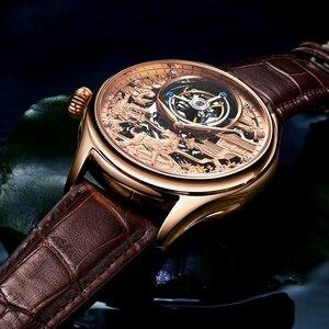 Image 3 - リアルトゥールビヨン GUANQIN 2019 時計サファイア腕時計メカニカルハンド風スタイル時計メンズ腕時計トップブランドの高級レロジオ masculino