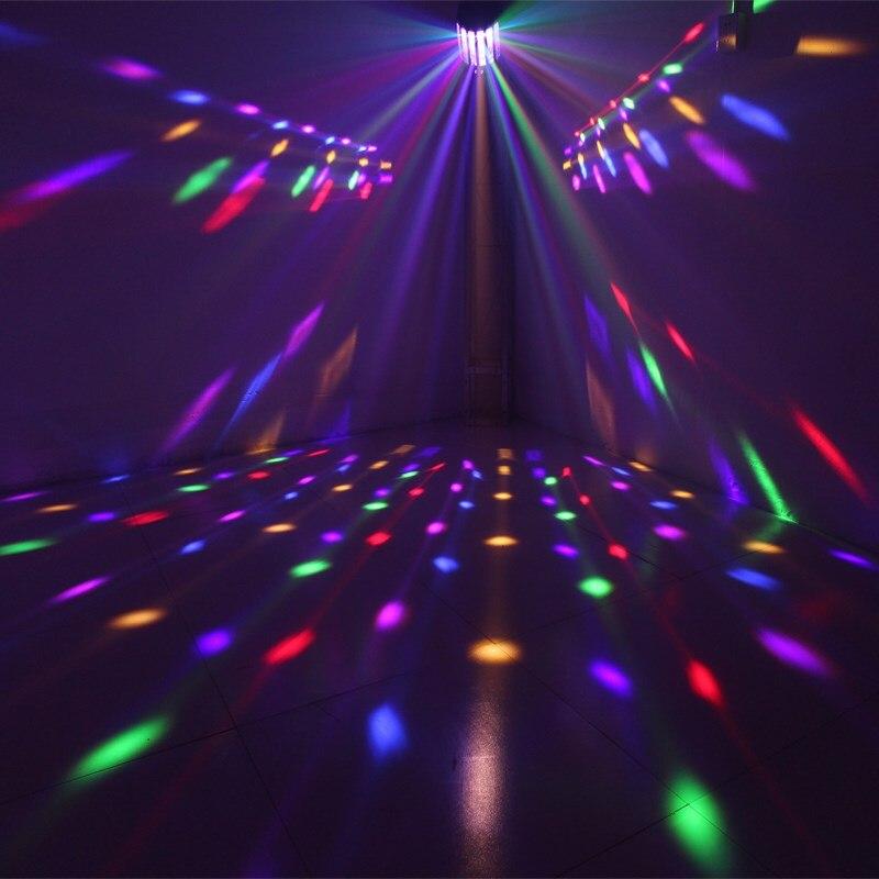 Светодиодный мини-бабочка этап светодиодный сцены Портативный RGB звук DJ Light Вечерние огни DMX512 Управление Рождество лазерный проектор