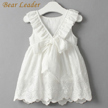 Bear Leader Girl Dress Princess Costume 2018 New Brand Silk Chiffon Kids Clothes Girls Dresses Leopard Print Children Dress